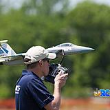 Jason Cole hand launching the F-15