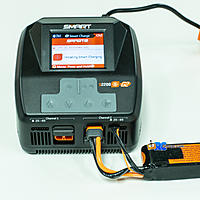 Name: 2J7A7457.jpg Views: 155 Size: 1.54 MB Description: Initiating charge on G1 Smart Lipo, note that the balance connector needs to be plugged in for charging.
