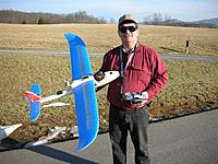 Name: Bob prepares to fly his EasyStar.jpg