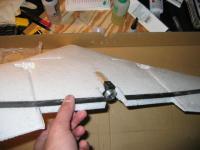 Name: IMG_2007.jpg Views: 320 Size: 45.9 KB Description: slot cut into foam for stick mount