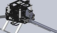 Name: tricopter assem 2.jpg Views: 379 Size: 97.2 KB Description: A close up of the yaw mechanism