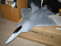 Name: P9270217.jpg Views: 200 Size: 50.0 KB Description: X-flight F-22, 700 watts, 90 mph