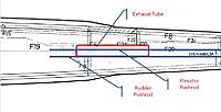 Name: Exhaust problem2.jpg Views: 72 Size: 58.8 KB Description: Top view of exhaust exit showing exhaust tube/pushrod interference.