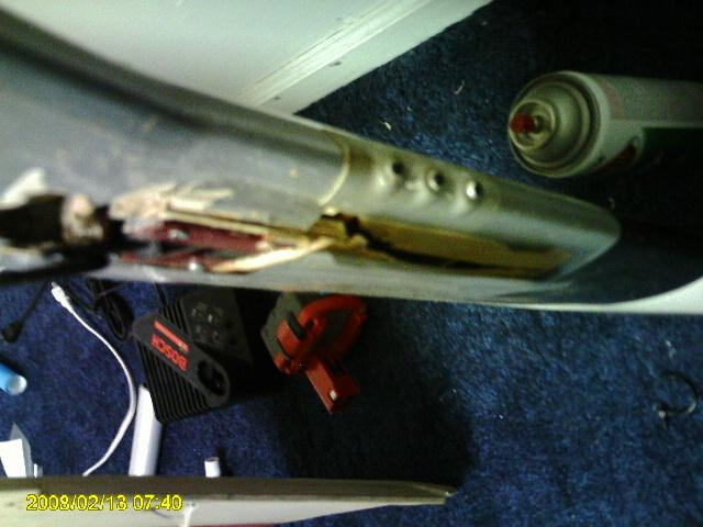 Name: Mustang wing retract damage.jpg