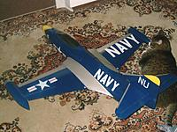 Name: F9F 074.jpg Views: 38 Size: 64.9 KB Description: I miss my 33# inspector general. Thats an RBC Panther, not a small jet