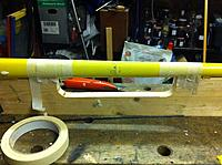 Name: IMG_0437[1].jpg Views: 326 Size: 252.9 KB Description: Glued to the plank for repairs-Dont forget the tape! One pushrod had to be replaced as well.