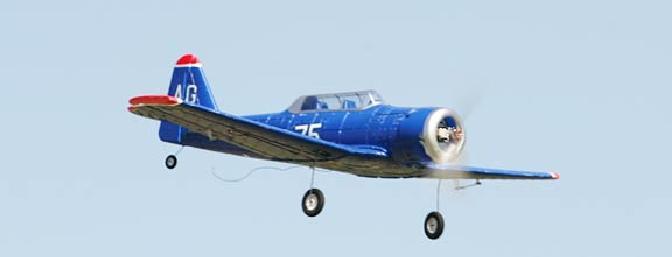 The GWS T-6 in flight.