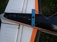 Name: SS852562.jpg Views: 251 Size: 132.3 KB Description: modified rudder horn to extend rudder travel