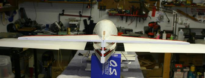 The stab was fastened into place using the lower wing mounted to the fuselage to check for square and level.