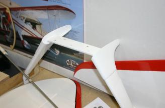 Main gear with fiberglass fairings.