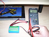 Name: 100_2364.jpg Views: 94 Size: 200.7 KB Description: This shows the battery voltage. 6.97vdc.   I ran the battery on my fan (next pic) for a few minutes before I got this picture.