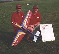 Name: f1 Grunk.jpg Views: 754 Size: 15.1 KB Description: This is a picture of Craig Grunkemeyer just before his first and last F1 Race.  The airplane was donated by Clark Wade and I think Grunk went through 3 engines that weekend.  He did however, Turn a 1:08 and some change