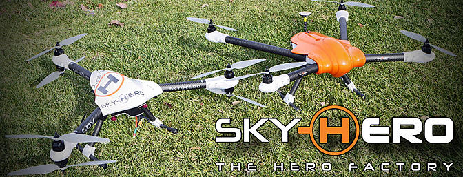 Sky Hero Spyder and Spy Multirotors