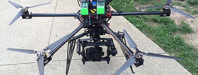 The Movi M5 mounted to my 1100mm Evo Hex ready to fly!