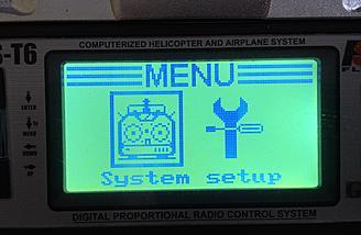Yunyi-Flight Seraphi A  - Radio - Menu Selection