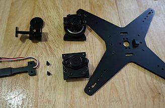 """iFlight BetView 5D/GH3 """"4th axis"""" Shutter light and stock mount."""