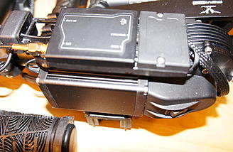Movi M5: Power switch Gimbal control board, 2 man operation connections and GPS unit