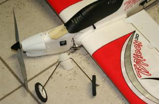 Not too long ago, I had a serious aerial mishap during low inverted flight when the ground suddenly jumped out in front of me. It ended up snapping the fuse right at the landing gear mount....