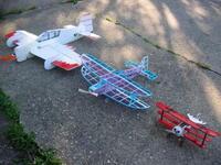 "Name: IMG_1119.jpg Views: 325 Size: 150.8 KB Description: Yak T3D-3 (kit), Ghost Bipe 180 (kit) , Fokker DR1 scratch 14"""