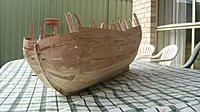 Name: IMG_0196.jpg Views: 143 Size: 210.9 KB Description: Basic hull taking shape. First photo taken.