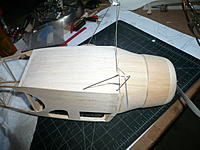 Name: P1050289.JPG Views: 17 Size: 1.34 MB Description: Hatch shaped and pretty much done. It will need a short fishing line pull added to grip onto to open the hatch. The magnets have it held on tightly.