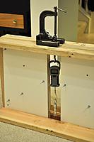 Name: 1 Jig.jpg Views: 377 Size: 106.4 KB Description: Testing jig: C-clamp, Fishscale, Bracket, and Spar