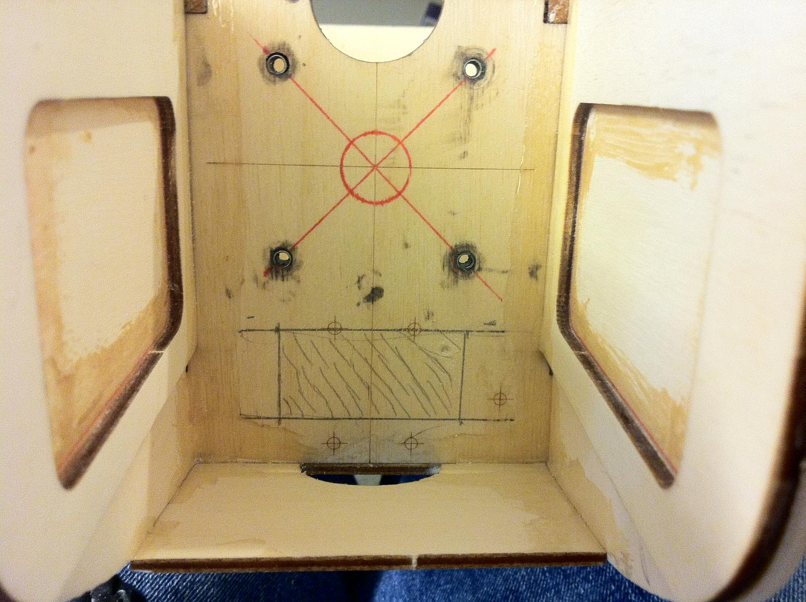 Name: 014.jpg Views: 111 Size: 276.2 KB Description: Firewall marked for cutting the venting/ESC access hole