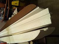 """Name: Floats-4.jpg Views: 114 Size: 121.2 KB Description: I used the dado attachment to my table saw to cut a 1/4"""" deep by 1"""" wide slot down the entire length of the top. This will hold the spine."""