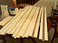 """Name: Floats-5.jpg Views: 130 Size: 184.3 KB Description: I cut the spines out of a poplar 1""""x4""""x6' I picked up at Lowe's. I messed up two of them and had to replace with some walnut I had on hand.    (I like Lowe's because they give a 10% discount for us military, or retired military, types all year"""