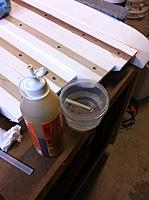 Name: Floats-11.jpg Views: 95 Size: 91.1 KB Description: Here's the glue and bowl of water I soaked the dowels in.