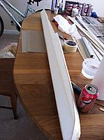 Name: Floats-25.jpg Views: 65 Size: 139.1 KB Description: Float positioned with top toward my chair to start work. I'm sheeting the upper/angled part of the left side of the float.