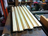 Name: Floats-42.jpg Views: 56 Size: 255.7 KB Description: First coat of varnish rubbed on.
