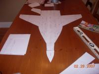 Name: EPP Mig 29 Build 004.jpg Views: 673 Size: 52.6 KB Description: my computer printed the plans a little small. One inch on the plans is not quite and inch on my print out.  So even with the added 2 incheds the wing span is still only the original 32+ inches.