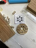 Name: IMG_1086.JPG Views: 15 Size: 86.3 KB Description: parts for the JIG,, pattern, plywood base drilled to accept  pegs (x6)