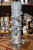 Motor wires that were too short are routed closer to the base, as an extra bundle.