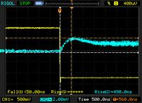 Name: laser_reflection03.jpg Views: 40 Size: 19.4 KB Description: The mighty capacitance fighting resistor did get the rise time down to a more useful range at 15ft, but still very erratic.  There still might be useful data with extreme averaging & the higher quality amplifier in a radio.
