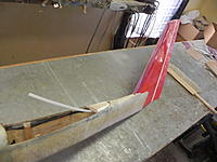Name: DSCN3569.jpg Views: 149 Size: 182.4 KB Description: Used PU glue to attach the fin to the FG fuse.  I've cut a rudder out of the fin.  Having a little yaw control will be nice to help coordinate those slow thermal turns.
