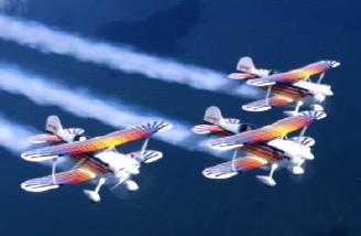 The Eagles Aerobatic Flight Team in action.