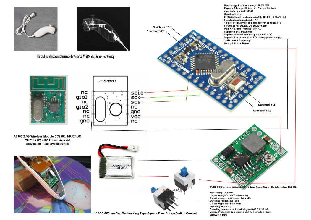 Attachment browser: Wii Nunchuck Arduino ProMini Flysky png by