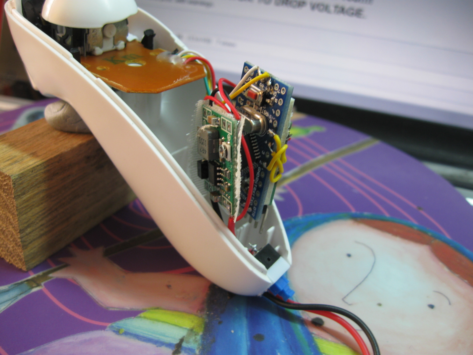 Attachment browser: Wii Nunchuck Arduino ProMini Flysky 4 JPG by