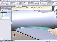 """Name: Surface-Offset.jpg Views: 107 Size: 65.1 KB Description: Used """"Offset Surface 0.00in"""" on just the fillet surface and saved that into a new part file."""