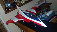 Name: 2012-09-02_00-32-33_11.jpg Views: 92 Size: 135.5 KB Description: Rafale build almost completed.  Just needs the decals placed on the aircraft as well as some touch up paint especially on the nose cone.