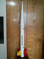 "Name: WP_001014.jpg Views: 78 Size: 71.3 KB Description: 4"" performance rocketry all fiberglass 1/4 scale nike smoke, 6# rtf."