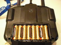 """Name: BattLocation.jpg Views: 1545 Size: 108.5 KB Description: The batteries. """"AA"""" dry cells (8) are shown. When these die, I will put in NiCd. I have NiCd in my main (HK) transmitter."""