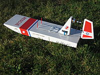 """Name: Stevens Aero Air Boat 003.jpg Views: 106 Size: 312.2 KB Description: Stevens Aero """"Waterboard"""" in USCG colors.  I use it as a rescue boat for our club's 1M sailboats.  Drags a fishing line out and surrounds the sailboats - reel both back to shore."""