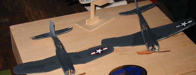 Joe Malinchak's micro Hellcat and Corsair.