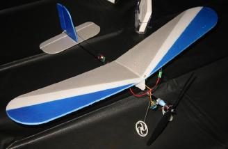 DWE Super Skeeter with brushless power. The added power of the brushless setup adds a new dimension to the plane's flight envelope.