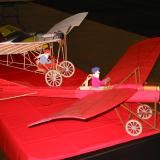Looking for a model that will fly on the wing? Both the 1909 Demoiselle (rear) and the 1910 Deperdussin (foreground) fit the bill.