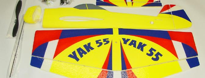 The YAK-55 is a very complete kit. All hardware is included and one only needs to add the radio, ESC and battery pack.