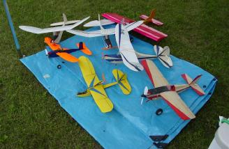 NEAD's fleet of kits, including the prototype of a new laser cut kit, the Pursuit.